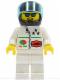 Minifig No: oct041  Name: Octan - Stars, White Legs, Black Helmet, Trans-Light Blue Visor