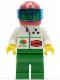 Minifig No: oct042  Name: Octan - Stars, Green Legs, Red Helmet 7 White Stars, Trans-Dark Blue Visor