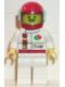 Minifig No: oct043  Name: Octan - Race Team, White Legs, Red Helmet, Trans-Light Blue Visor