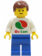 Minifig No: oct047  Name: Octan - White Logo, Blue Legs, Reddish Brown Male Hair