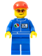 Minifig No: oct067  Name: Octan - Blue Oil, Blue Legs, Red Short Bill Cap, Orange Sunglasses