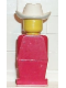 Minifig No: old003  Name: Legoland Old Type - Red Torso, Red Legs, White Cowboy Hat