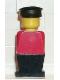 Minifig No: old004  Name: Legoland - Red Torso, Black Legs, Black Hat