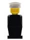 Minifig No: old009  Name: Legoland - Black Torso, Black Legs, White Hat