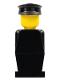 Minifig No: old011  Name: Legoland - Black Torso, Black Legs, Black Hat
