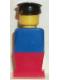Minifig No: old013  Name: Legoland - Blue Torso, Red Legs, Black Hat