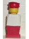 Minifig No: old016  Name: Legoland Old Type - White Torso, Red Legs, Red Hat