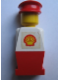 Minifig No: old016s  Name: Legoland Old Type - White Torso, Red Legs, Red Hat, Shell Logo Sticker