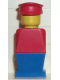 Minifig No: old019  Name: Legoland - Red Torso, Blue Legs, Red Hat