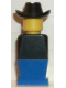 Minifig No: old027  Name: Legoland Old Type - Black Torso, Blue Legs, Black Cowboy Hat