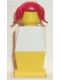 Minifig No: old038  Name: Legoland - White Torso, Yellow Legs, Red Pigtails Hair