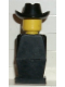 Minifig No: old040  Name: Legoland Old Type - Black Torso, Black Legs, Black Cowboy Hat