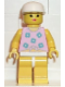 Minifig No: par005  Name: Blue Flowers - Yellow Legs, White Cap