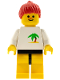 Minifig No: par019  Name: Palm Tree - Yellow Legs, Red Ponytail Hair