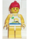 Minifig No: par023  Name: Island with Palm and Sun - Yellow Legs, Red Ponytail Hair