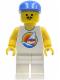 Minifig No: par031  Name: Surfboard on Ocean - White Legs, Blue Cap