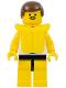 Minifig No: par032  Name: Surfboard on Ocean - Yellow Legs, Brown Male Hair, Life Jacket