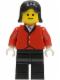 Minifig No: par049  Name: Red Riding Jacket - Black Legs, Black Female Hair