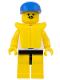 Minifig No: par051  Name: Surfboard on Ocean - Yellow Legs, Blue Cap, Life Jacket