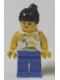 Minifig No: par055  Name: Island with Palm and Sun - Blue Legs, Black Ponytail Hair