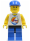 Minifig No: par059  Name: Surfboard on Ocean, Blue Legs, Black Hips, Blue Cap