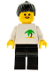 Minifig No: par064  Name: Palm Tree - Black Legs, Black Ponytail Hair