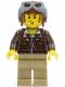 Minifig No: pha001  Name: Jake Raines - Aviator Jacket, Aviator Cap