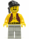 Minifig No: pi012  Name: Pirate Anchor Shirt, Light Gray Legs, Black Bandana