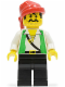 Minifig No: pi051  Name: Pirate Green Vest, Black Legs, Red Bandana