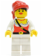Minifig No: pi058  Name: Pirate Female, White Legs, Red Bandana