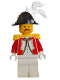 Minifig No: pi074  Name: Imperial Guard - Admiral with White Plume Triple