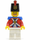Minifig No: pi098  Name: Imperial Soldier II - Shako Hat Printed,  Brown Beard