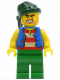 Minifig No: pi103  Name: Pirate Blue Vest, Green Legs, Dark Green Bandana, Bared Teeth