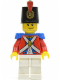 Minifig No: pi104  Name: Imperial Soldier II - Shako Hat Printed, Smirk and Stubble Beard
