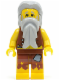 Minifig No: pi112  Name: Pirate Vest and Anchor Tattoo, Gray Beard, Gray Hair (Castaway)