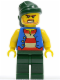 Minifig No: pi115  Name: Pirate Blue Vest, Dark Green Legs, Dark Green Bandana, Bared Teeth (Tic Tac Toe)