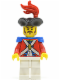 Minifig No: pi119  Name: Imperial Soldier II - Officer with Red Plume, Long Moustache