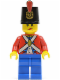 Minifig No: pi136  Name: Imperial Soldier II - Shako Hat Printed, Blue Legs, Female