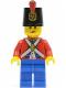 Minifig No: pi136  Name: Imperial Soldier II - Shako Hat Printed, Blue Legs, Female