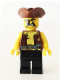 Minifig No: pi162  Name: Pirate 4 - Vest and Anchor, Eyepatch