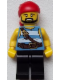 Minifig No: pi178  Name: Pirate Medium Blue and White Stripes, Black Legs
