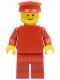 Minifig No: pln004  Name: Plain Red Torso with Red Arms, Red Legs, Red Hat