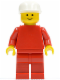 Minifig No: pln035  Name: Plain Red Torso with Red Arms, Red Legs, White Cap