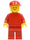 Minifig No: pln043  Name: Plain Red Torso with Red Arms, Red Legs, Red Cap