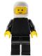 Minifig No: pln051  Name: Plain Black Torso with Black Arms, Black Legs, White Classic Helmet