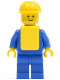 Minifig No: pln064  Name: Plain Blue Torso with Blue Arms, Blue Legs, Yellow Construction Helmet, Yellow Vest