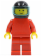 Minifig No: pln070  Name: Plain Red Torso with Red Arms, Red Legs, Black Helmet, Trans-Light Blue Visor