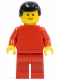 Minifig No: pln071  Name: Plain Red Torso with Red Arms, Red Legs, Black Male Hair