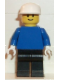 Minifig No: pln093  Name: Plain Blue Torso with Blue Arms, Black Legs, White Cap