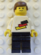 Minifig No: pln102s  Name: Soccer Player - German National Player, German National Flag Colors Torso Sticker on Front, Black Number Sticker on Back (specify number in listing)